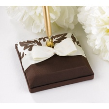 Elegant Damask Pen Set - Mocha and Ivory