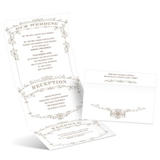 Wedding Playbill - Latte - Seal and Send Invitation