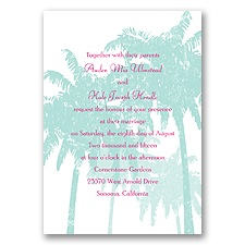 Pretty Palms - Lagoon - Invitation