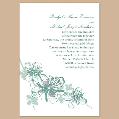 Orchids - Fern - Invitation