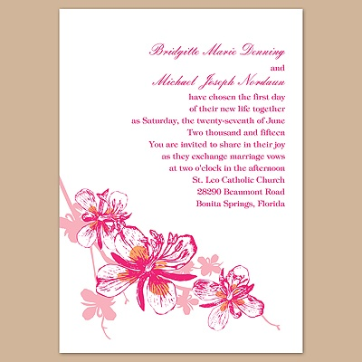 Orchids - Lipstick - Invitation