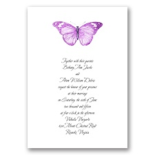 Butterfly in Grapevine - Invitation