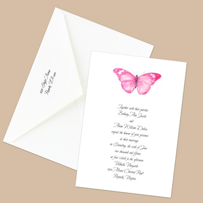 Butterfly in Lipstick - Invitation