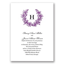 Floral Crest - Grapevine - Invitation