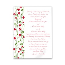Climbing Vines - Barn Red - Invitation