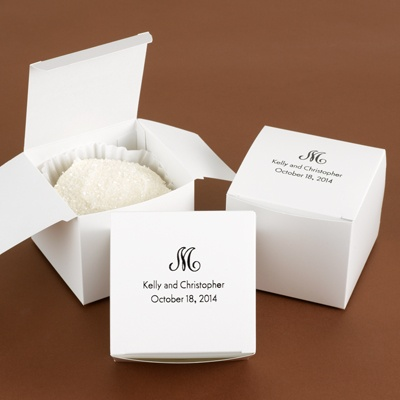 Large White Cake Box - Personalized