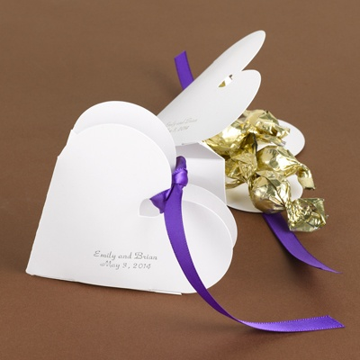 Heart-Shaped Favor Box - personalized