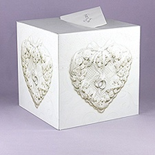 Floral Heart Card Box