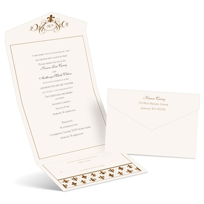Fleur de Lis - Seal and Send Invitation