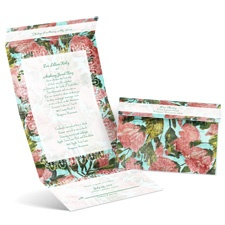 Distressed Floral - Seal and Send Invitation