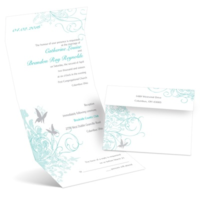 Butterflies - Seal and Send Invitation