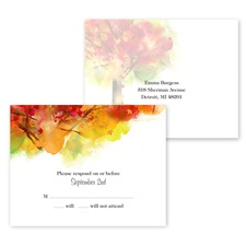 Brilliant Autumn - Response Postcard