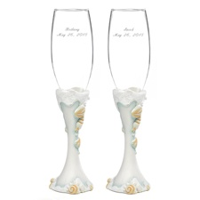 Beach Beauties - Toasting Flutes