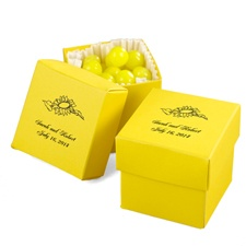 Yellow Favor Boxes (2-Piece)