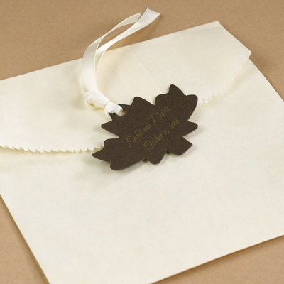 Maple Leaf Favor Tags - Mocha