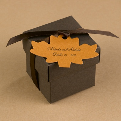 Maple Leaf Favor Tags - Spice