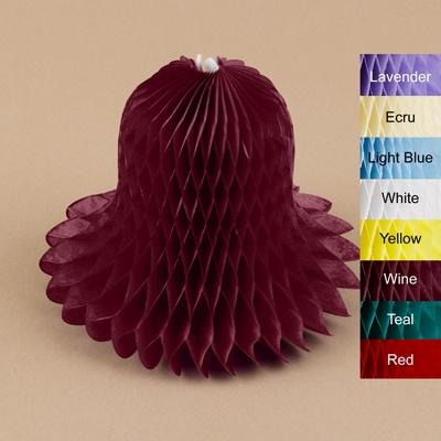 "Colored 11"" Tissue Bells - 6 pk"