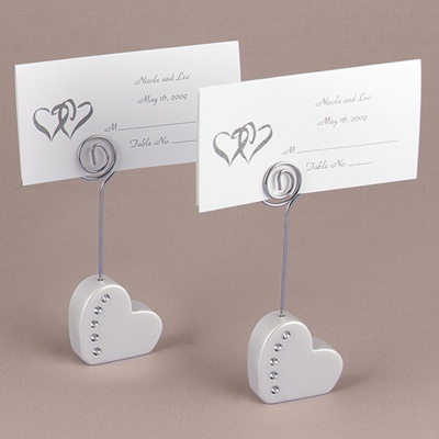Pearl Heart Place Card Holder