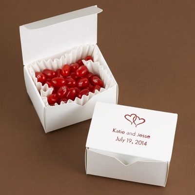 Small White Treat Boxes - Personalized