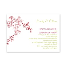 Birds in Cherry Blossoms - Invitation