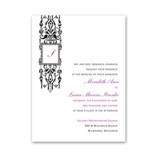Framed Monogram - Invitation