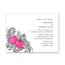 Hearts and Flourishes - Lipstick - Invitation