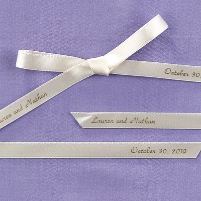 Personalized Ecru Ribbon
