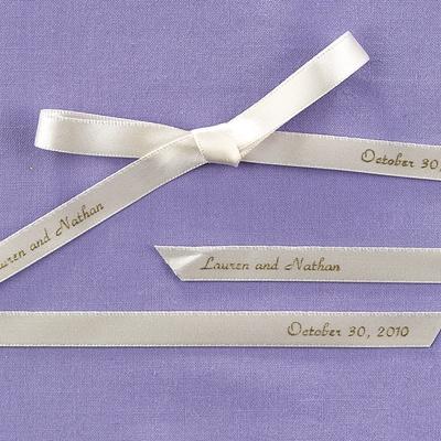 Personalized Ecru Ribbon