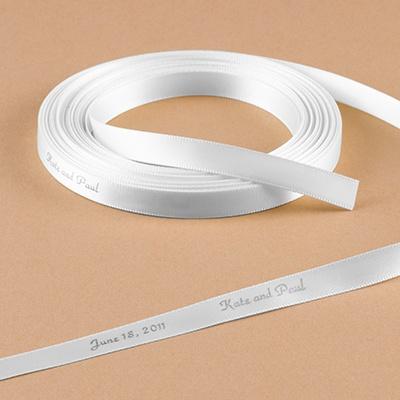 Personalized White Ribbon