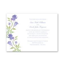 Watercolor Roses - Hydrangea Purple - Invitation
