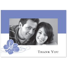 Hydrangea Pair of Flowers - Photo Thank You Card and Envelope