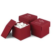 Claret Favor Boxes (2-piece)