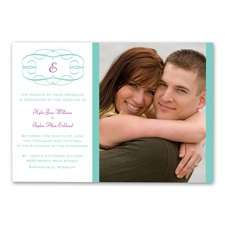 Swirl Frame - Photo Invitation