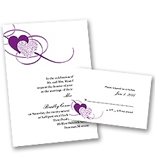 Close at Heart - Grapevine - Invitation with Free Respond Card