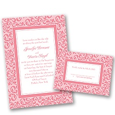 Filigree Frame - Petal - Invitation with Free Respond Card