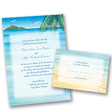Ocean View - Invitation with Free Respond Card