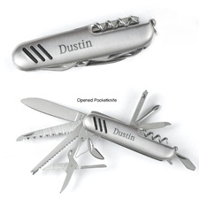 Silver-Plated Pocketknife - Personalized