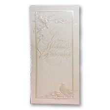 Pearl Embossed Doves Program - Blank