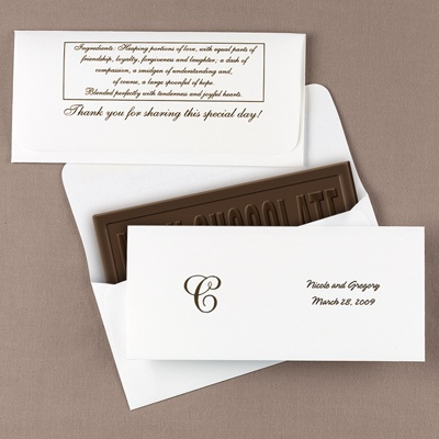Candy Bar Envelopes w/Design