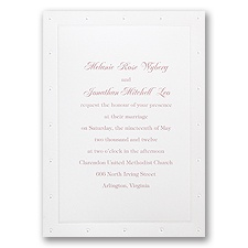 Classic Pearls Separate and Send Invitation