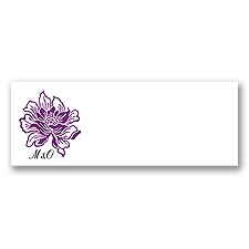 Flowers and Flourishes - Grapevine - Print Your Own Mailing Label
