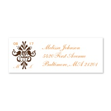 Framed Monogram - Chocolate - Print Your Own Mailing Label