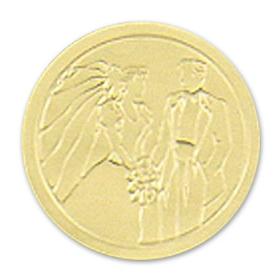 Gold Couple Round Seal