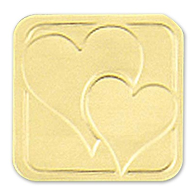 Gold Double Heart Square Seal