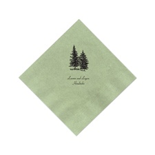 Dark Sage Cocktail Napkins