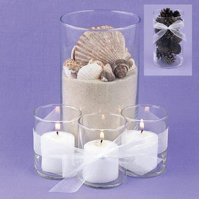Pull Apart Glass Cylinder Centerpiece