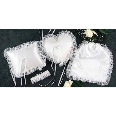White Satin Bridal Accessories