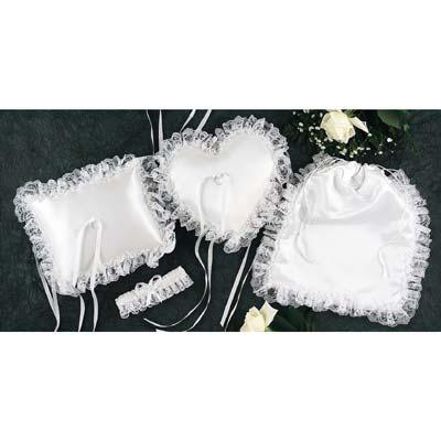 White Satin Bridal Accessories