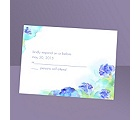 Beauty in Blue - Response Card and Envelope