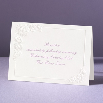 Dainty As A Daisy - Reception Card